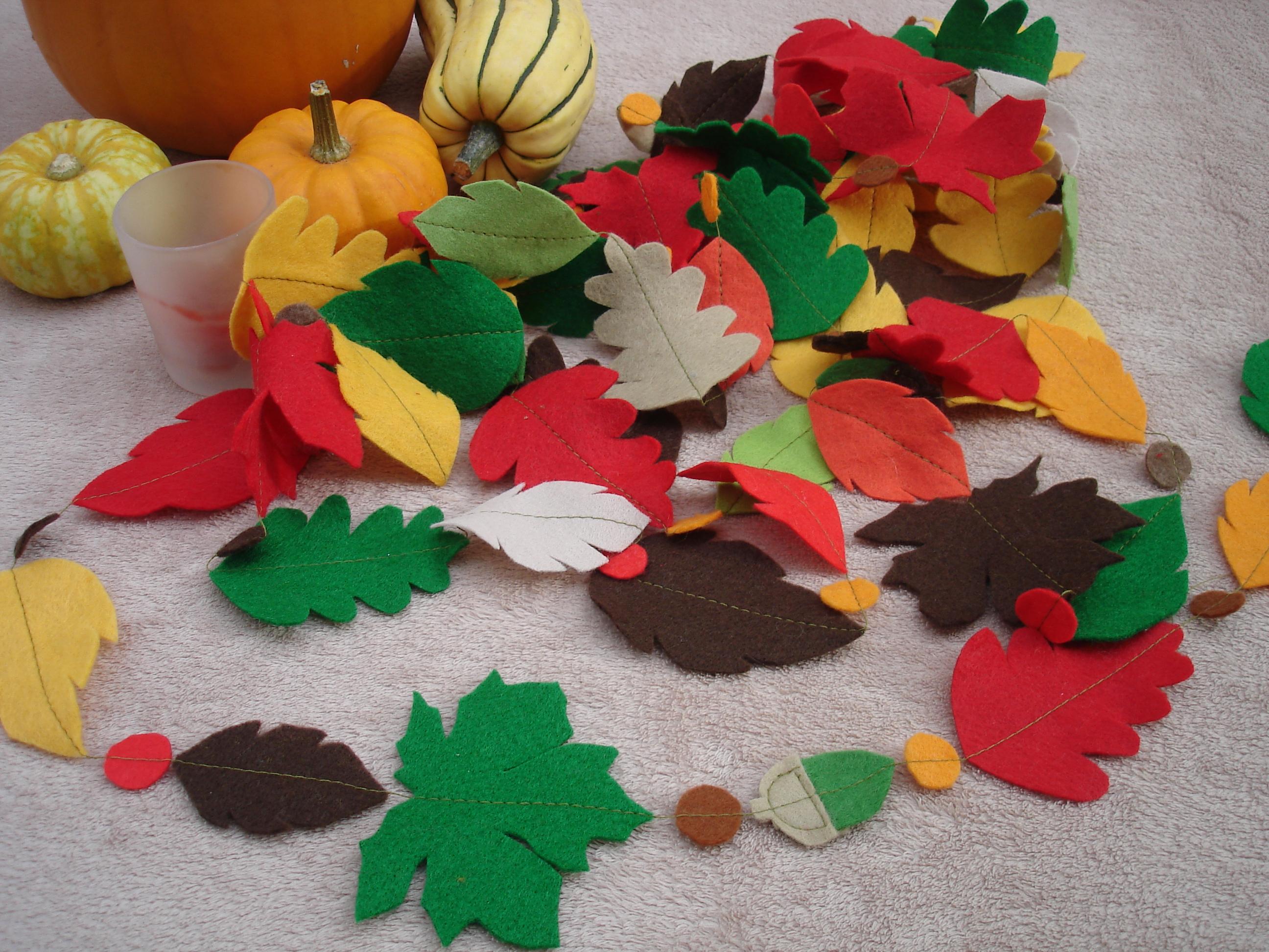 Autumn Fall Felt Leaf Garland Tutorial Sew Dainty