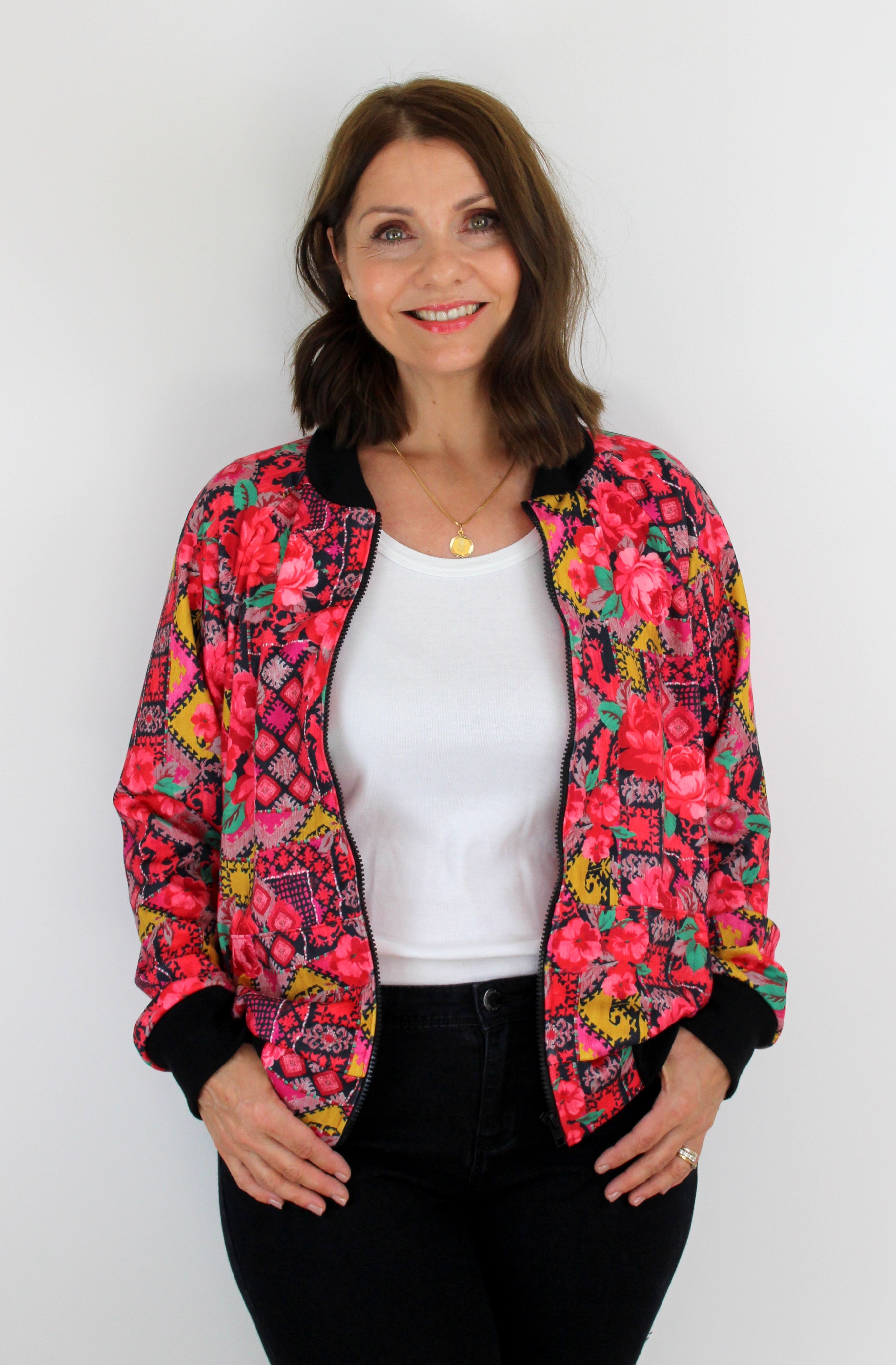 A Fabulous Floral Bomber Jacket – McCall's M7100 – Sew Dainty