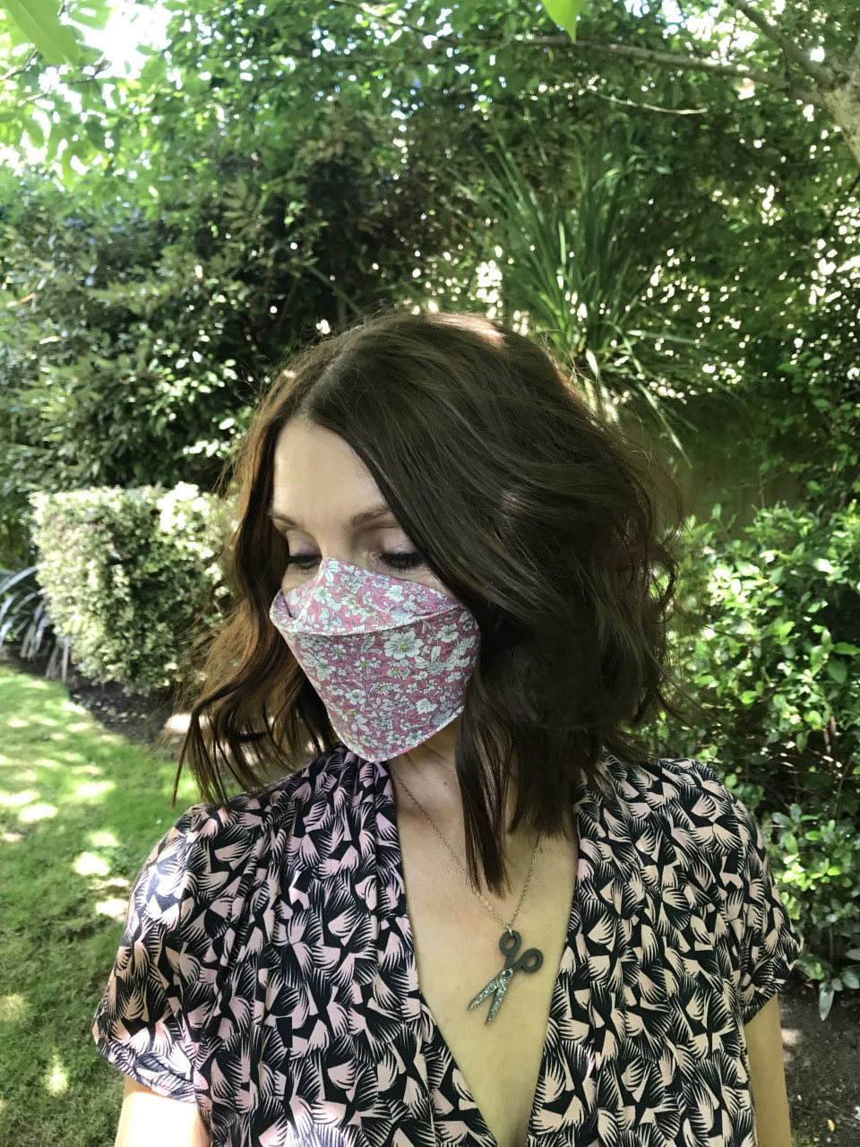 3d Face Mask Covering With Nose Wire And Filter Pocket Sew Dainty